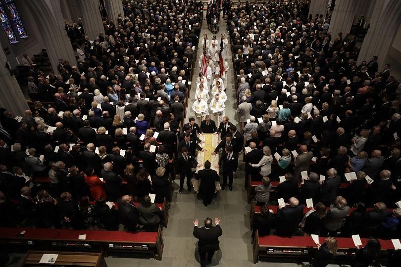 Бившата първа дама на Съединените щати Барбара Буш беше погребана