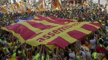 Близо 1 млн. души излязоха в Барселона с искане за независимост на Каталуния