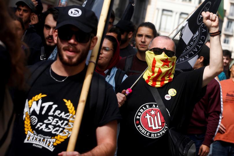 протестен марш барселона независимост каталуния