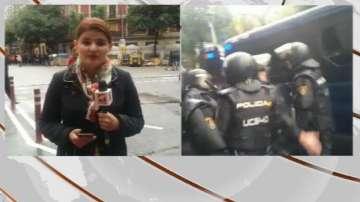 Сериозни сблъсъци в Барселона, има ранени