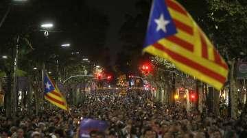 200 хиляди души излязоха на митинг в Барселона