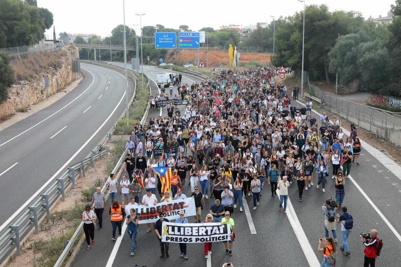 Серия от протести в подкрепа на независимостта на Каталуния започват
