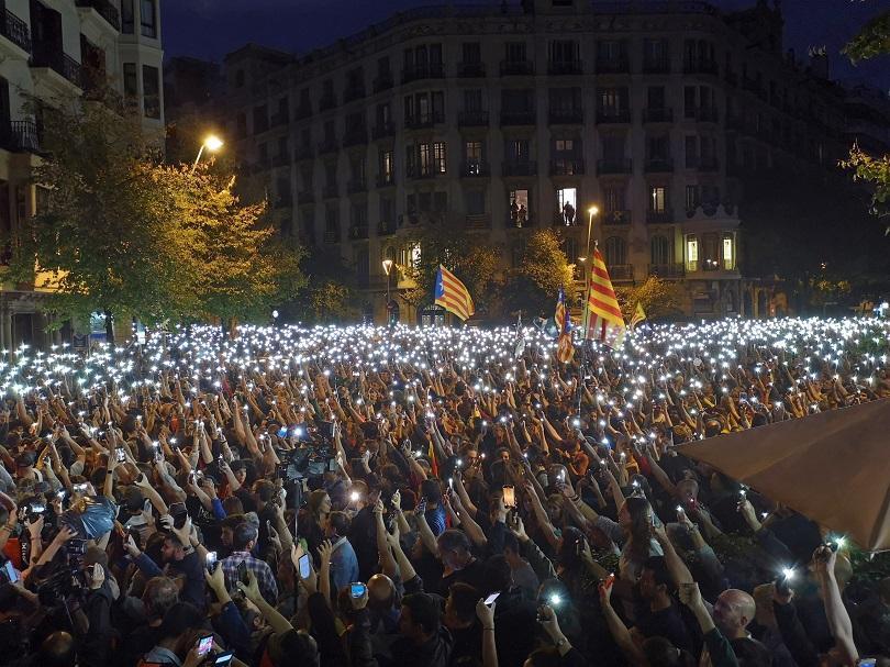 Снимка: Нов протест в центъра на Барселона тази вечер