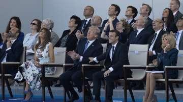 Доналд Тръмп на празненствата в Париж (ГАЛЕРИЯ)
