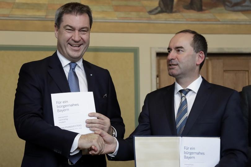бавария подписаха коалиционно споразумение