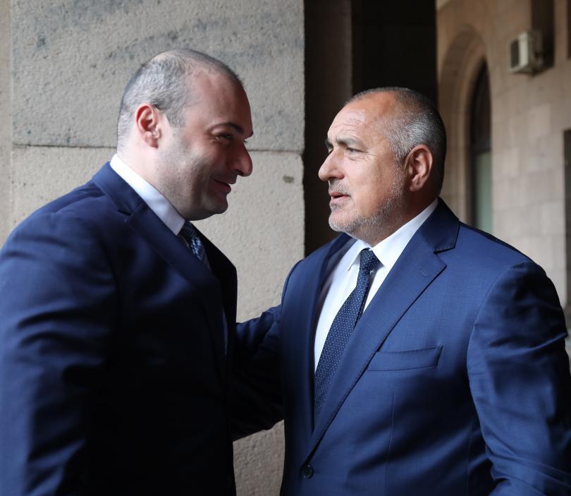 снимка 1 Започна срещата на премиера Борисов с грузинския му колега Бахтадзе