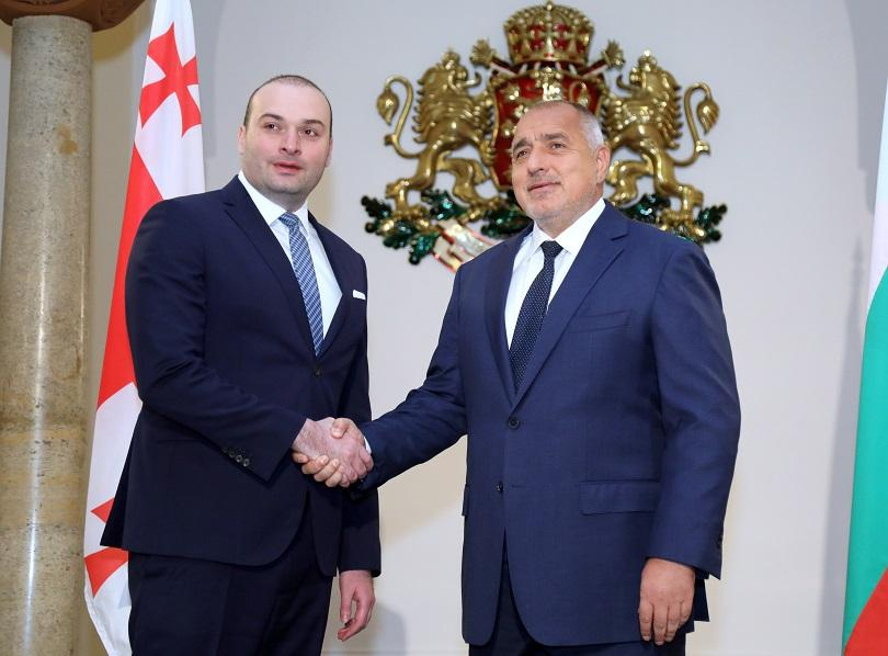 Започна срещата на премиера Борисов с грузинския му колега Бахтадзе