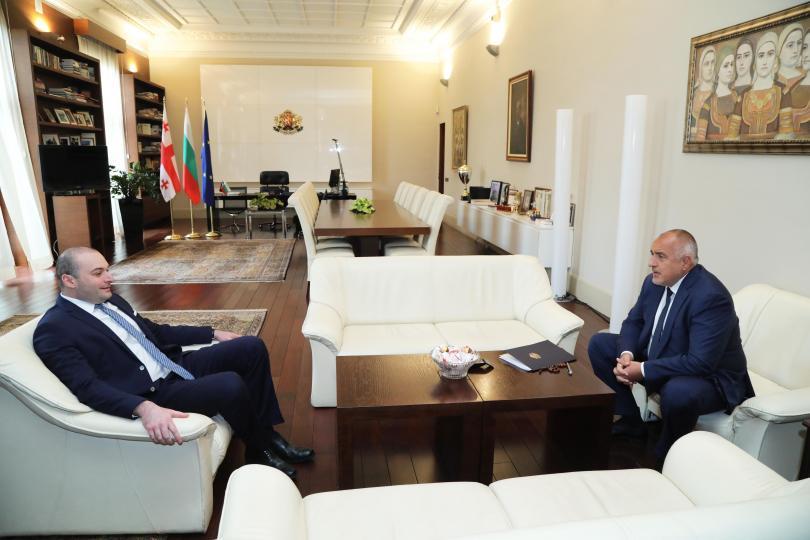 снимка 2 Започна срещата на премиера Борисов с грузинския му колега Бахтадзе