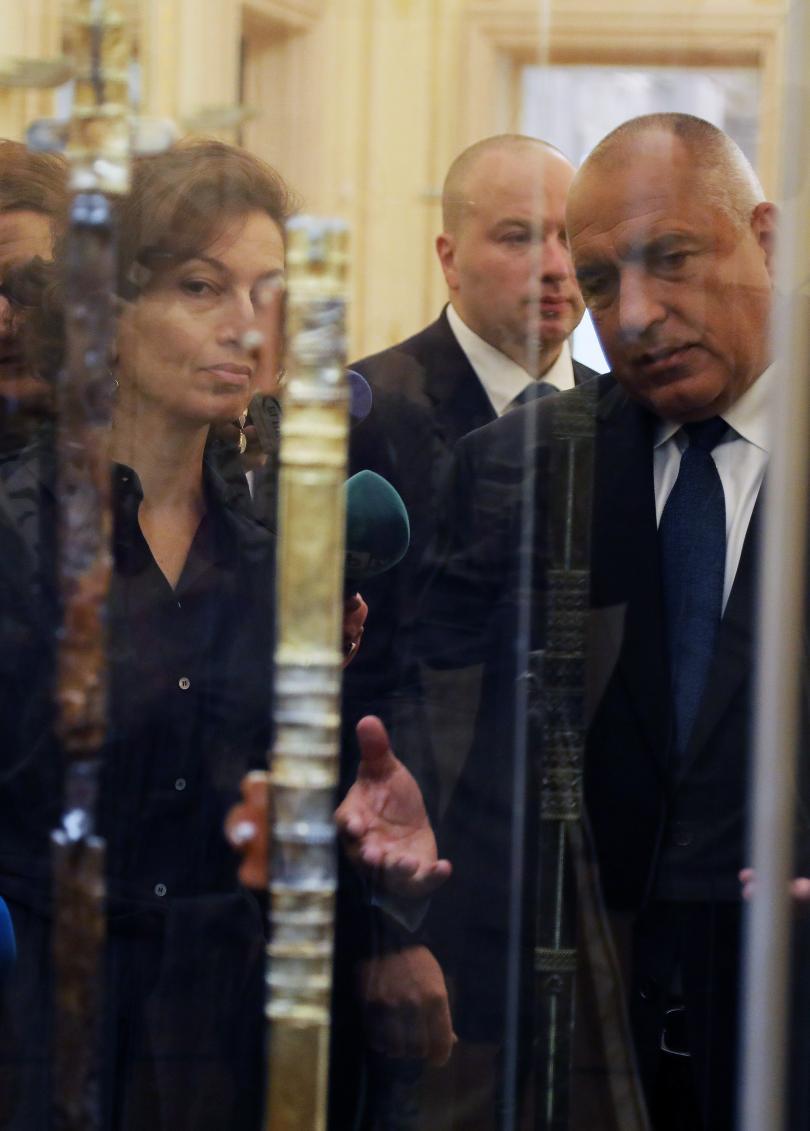 снимка 2 Премиерът Борисов посети изложбата Мечът на хан Кубрат