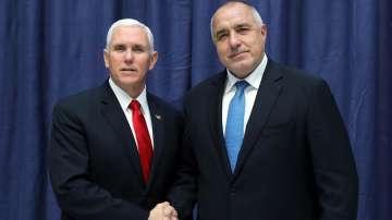 Премиерът Борисов на среща с вицепрезидента на САЩ Майкъл Пенс