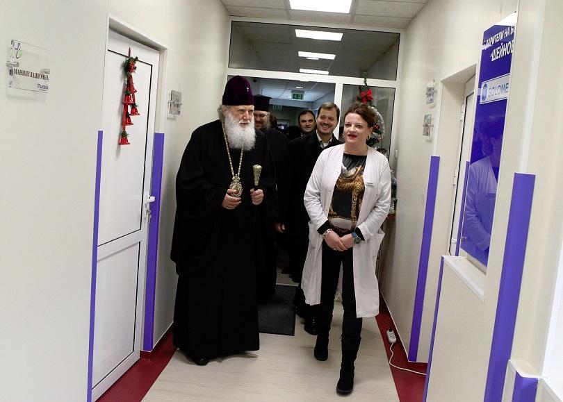 снимка 3 На Бабинден патриарх Неофит освети ново отделение в АГ болница Шейново