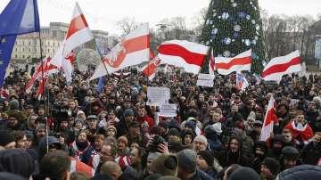 Протест в Минск срещу обединяване на Беларус и Русия