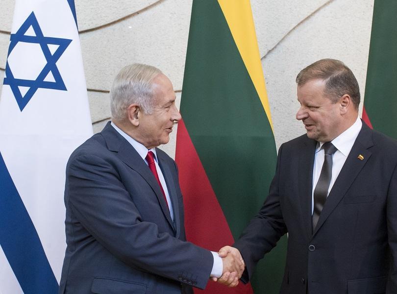 бенямин нетаняху стана първият израелски премиер посетил литва
