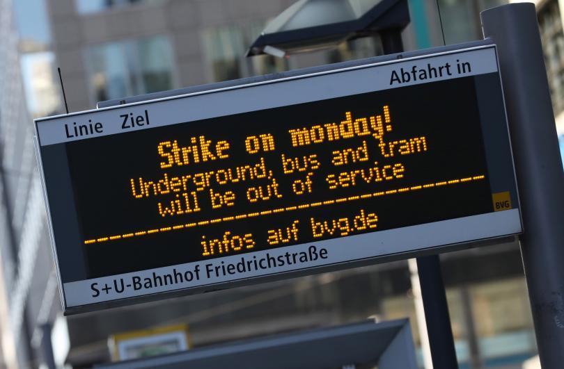 Стачка в Берлин: Без градски транспорт в германската столица