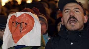 Два протеста против бежанците в Берлин