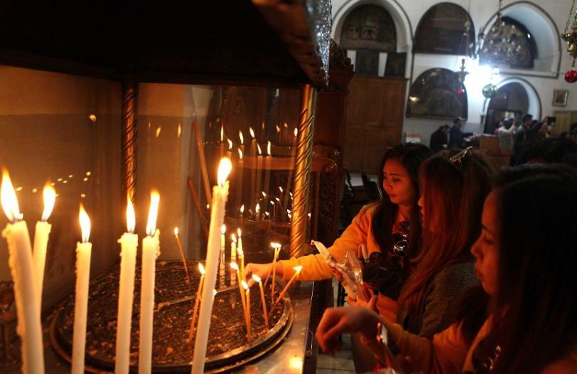 снимка 4 Поклонници от цял свят се стичат във Витлеем, за да посрещнат Рождество Христово