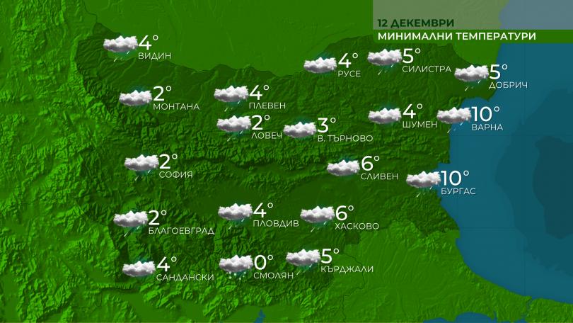 Днес над страната ще преобладава облачно, в равнините - и