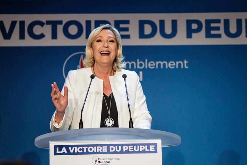 снимка 1 Победа за партията на Марин льо Пен на евроизборите във Франция