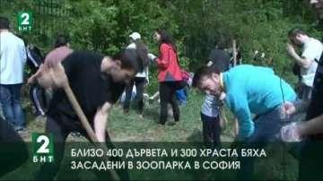 Близо 400 дървета и 300 храста бяха засадени в зоопарка в София