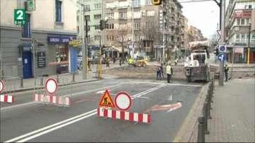 Ремонтът на бул. Дондуков затваря кръстовището с ул. Раковски