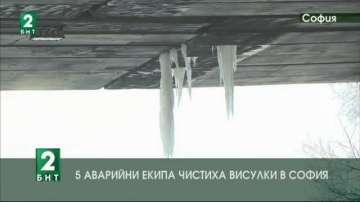 5 аварийни екипа чистиха висулки в София
