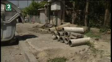 Откраднаха тротоарни плочки при ремонт на улица в Дупница