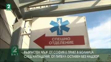 Възрастен мъж от София е приет в болница след нападение от питбул