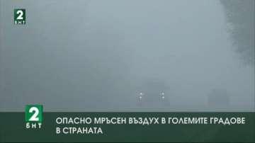 Опасно мръсен въздух в големите градове в страната