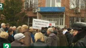 Протест и контрапротест белязаха встъпването на новия кмет на Младост