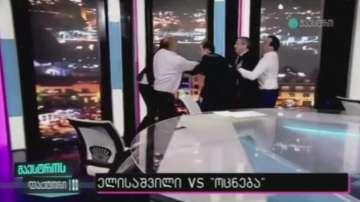 Юмручен бой в ефира на грузинската телевизия