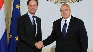 Марк Рюте се срещна с премиера Бойко Борисов