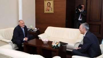 Започна срещата на четири очи между Борисов и Столтенберг