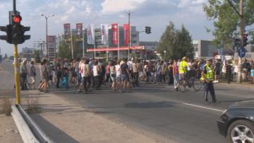 Жители на Божурище излязоха на протест в защита на шофьора Григор Григоров