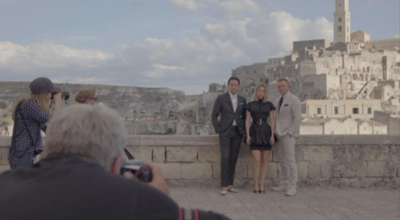 Актьорът Даниел Крейг завладя скалния италиански град Матера. Крейг, Леа