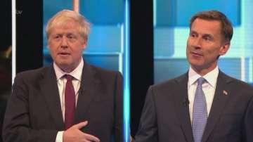 Борис Джонсън и Джереми Хънт в телевизионен дебат