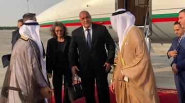 Премиерът Борисов пристигна в Абу Даби