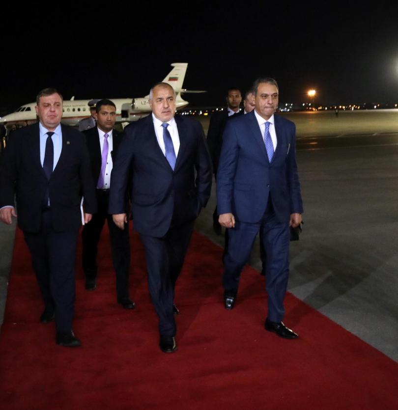 снимка 1 Премиерът Борисов и водена от него делегация пристигнаха на посещение в Египет