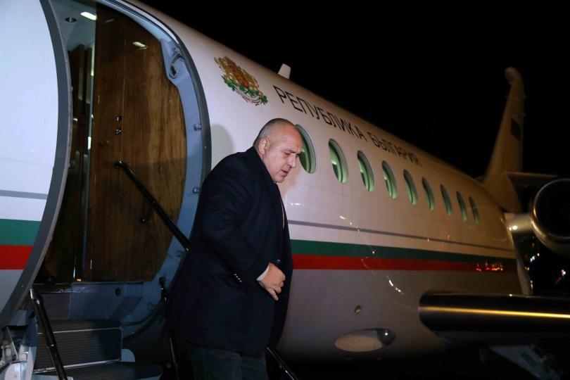 Бойко Борисов пристигна в Швейцария за участие в Световния икономически форум