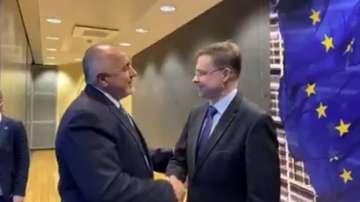 Започна срещата на Борисов със зам.-председателя на ЕК в Брюксел