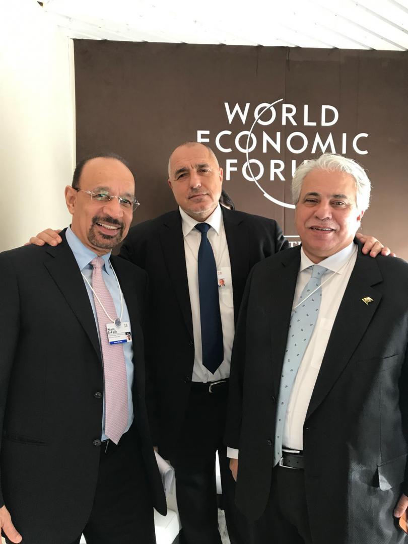 снимка 1 Премиерът Бойко Борисов разговаря със саудитски министри в Давос