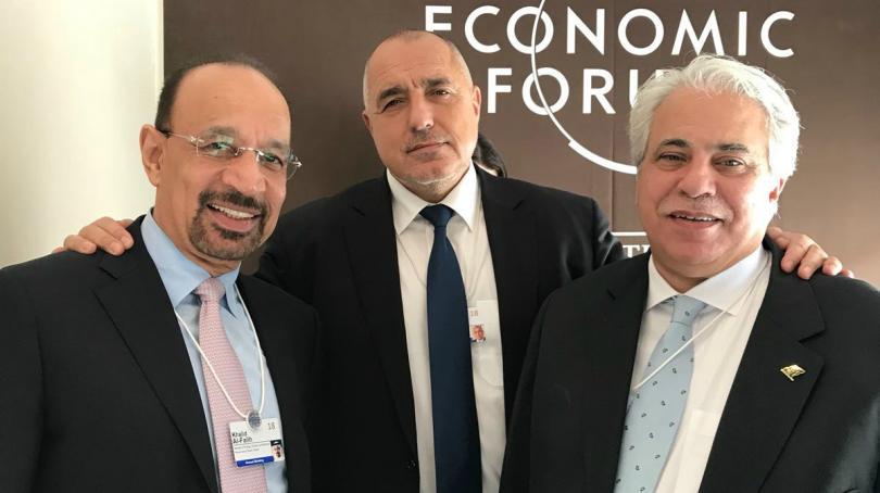 Премиерът Бойко Борисов разговаря със саудитски министри в Давос