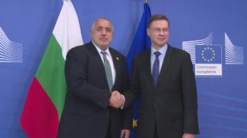 Борисов и Домбровскис пред БНТ: България може да влезе в чакалнята през юли