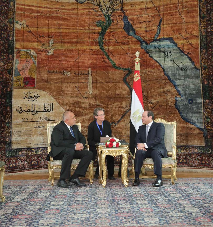 снимка 4 Премиерът Борисов се срещна с президента на Египет