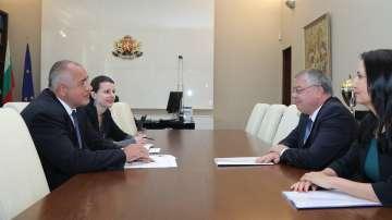 Премиерът Бойко Борисов разговаря с шефа на Европейската сметна палата