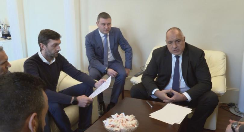 Днес премиерът Борисов се срещна с фенове на футболния клуб