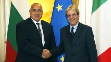 Премиерът Бойко Борисов се срещна с италианския премиер Паоло Джентилони в Рим