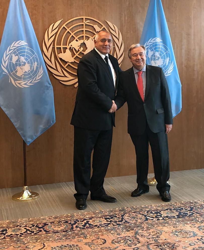 снимка 1 Премиерът Борисов се срещна с Майк Помпео и Антонио Гутериш