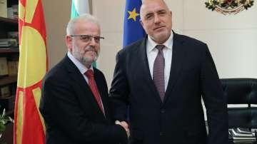 Премиерът Борисов се срещна с председателя на парламента на Северна Македония