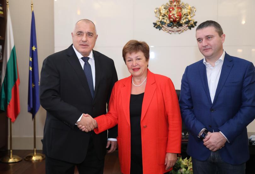 снимка 1  Премиерът Бойко Борисов се срещна с шефа на МВФ Кристалина Георгиева