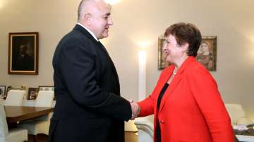 Премиерът Бойко Борисов се срещна с шефа на МВФ Кристалина Георгиева